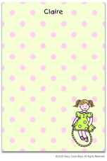 Stacy Claire Boyd Stationery - Jump Rope Girl (Padded Stationery)
