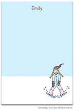 Stacy Claire Boyd Stationery - Ski Bunny (Padded Stationery)