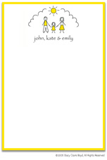 Stacy Claire Boyd Stationery - Sunshine Family - Girl (Padded Stationery)
