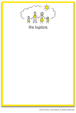 Stacy Claire Boyd Stationery - Sunshine Family - Boy, Girl (Padded Stationery)