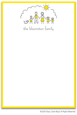 Stacy Claire Boyd Stationery - Sunshine Family - Boy, Girl, Girl (Padded Stationery)