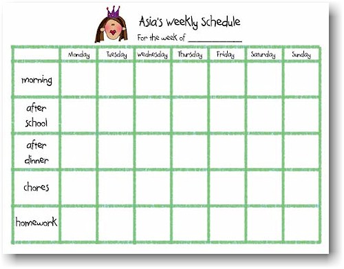 Weekly Calendar Pad : Starfish art pads single weekly schedule pad more
