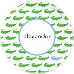 Boatman Geller - Personalized Plates (Alligator Repeat Blue) (20915)