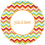 Boatman Geller - Personalized Plates (Chevron Bright) (20921)