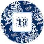 Boatman Geller - Personalized Plates (Chinoiserie Navy) (20923)