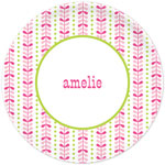 Boatman Geller - Personalized Plates (Bright Vine Pink and Green) (20925)