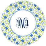 Boatman Geller - Personalized Plates (Emma Floral Periwinkle) (20927)