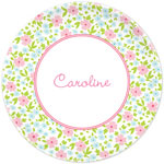 Boatman Geller - Personalized Plates (Emma Floral Pink) (20928)