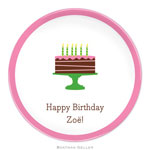 Boatman Geller - Personalized Plates (Birthday Cake Pink) (109-2+C051+B25)
