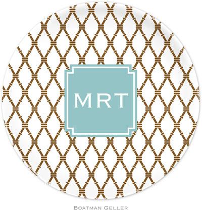 Boatman Geller - Personalized Melamine Plates (Bamboo Brown & Slate Preset) (23902-preset)