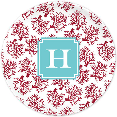 Boatman Geller - Create-Your-Own Melamine Plates (Coral)