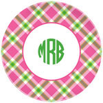 Boatman Geller - Personalized Plates (Ashley Plaid Pink) (19924)