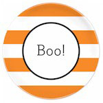 Boatman Geller - Custom Personalized Plates (Awning Stripe - Halloween)