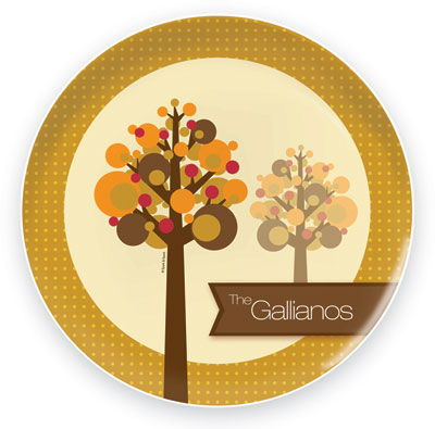 Spark & Spark Melamine Plates - Fall Trees (05-PT-1006-1)