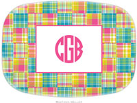Boatman Geller - Personalized Melamine Platters (Madras Patch Bright)