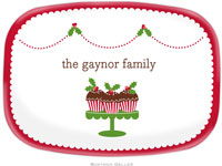 Boatman Geller - Personalized Melamine Platters (Holly Cupcakes)
