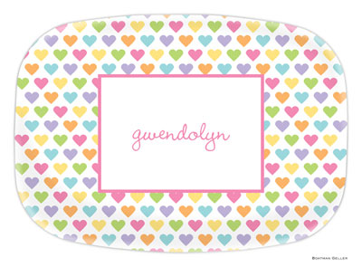 Boatman Geller - Personalized Melamine Platters (Candy Hearts) (21904)