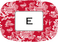 Boatman Geller - Personalized Melamine Platters (Chinoiserie Red)