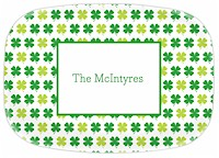 Boatman Geller - Personalized Melamine Platters (Shamrocks - St. Patrick's Day)