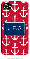 Boatman Geller Hard Phone Cases - Anchor Red & Navy