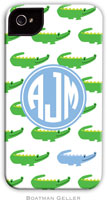 Boatman Geller Hard Phone Cases - Alligator Repeat Blue (Preset)