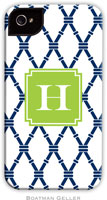 Boatman Geller Hard Phone Cases - Bamboo Navy & Green (Preset)