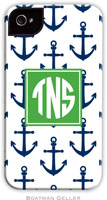 Boatman Geller Hard Phone Cases - Anchors Navy (Preset)