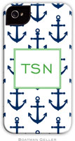 Boatman Geller Hard Phone Cases - Anchors Navy