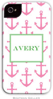 Boatman Geller Hard Phone Cases - Anchors Pink