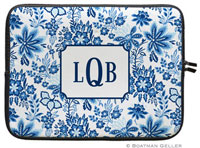 Boatman Geller Laptop Sleeves - Classic Floral Blue