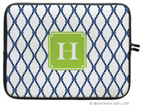 Boatman Geller Laptop Sleeves - Bamboo Navy & Green (Preset)