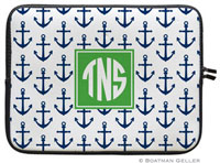 Boatman Geller Laptop Sleeves - Anchors Navy (Preset)