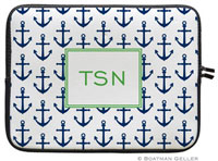 Boatman Geller Laptop Sleeves - Anchors Navy