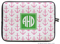 Boatman Geller Laptop Sleeves - Anchors Pink (Preset)