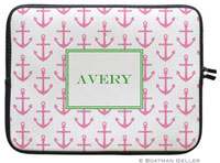 Boatman Geller Laptop Sleeves - Anchors Pink