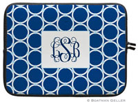 Boatman Geller Laptop Sleeves - Bamboo Rings Navy