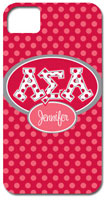 Hard Phone Cases - Alpha Sigma Alpha - Applique Letters on Dots (GOTGK-ASA-01)