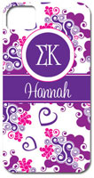 Hard Phone Cases - Sigma Kappa - Lyre Swirl (GOTGK-SK-06)