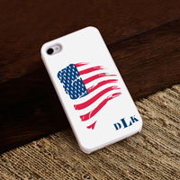 Personalized iPhone Case (American with White Trim) (GC973)