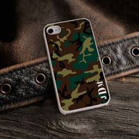 Personalized iPhone Case (Camo with White Trim) (GC973)