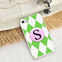 Personalized iPhone Case (Diamonds with White Trim) (GC973)