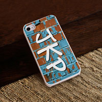 Personalized iPhone Case (Graffiti with White Trim) (GC973)