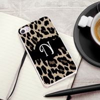 Personalized iPhone Case (Leopard with White Trim) (GC973)
