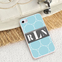 Personalized iPhone Case (Rings with White Trim) (GC973)