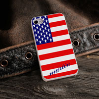 Personalized iPhone Case (Show Colors with White Trim) (GC973)