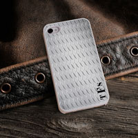 Personalized iPhone Case (Steel with White Trim) (GC973)
