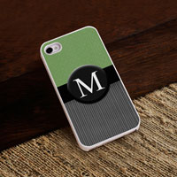 Personalized iPhone Case (Tweed with White Trim) (GC973)