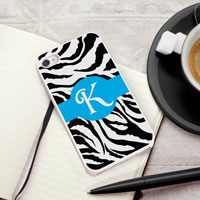 Personalized iPhone Case (Zebra with White Trim) (GC973)