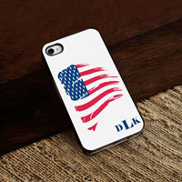 Personalized iPhone Case (American with Black Trim) (GC974)