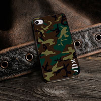Personalized iPhone Case (Camo with Black Trim) (GC974)